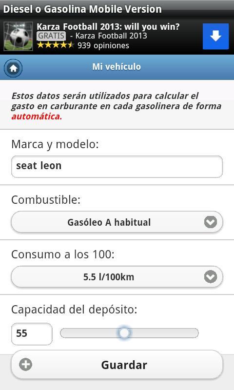 Gasolineras Baratas en España- screenshot