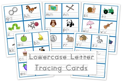 lowercase letter tracing cards free preschool printables