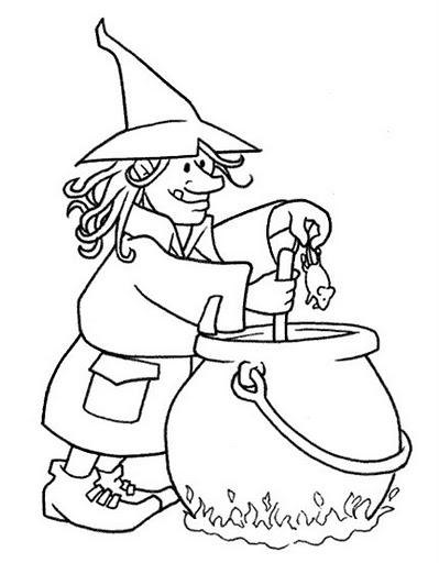 Desenhos Bruxa Para Colorir E Imprimir Bruxa Colorir E Aprender