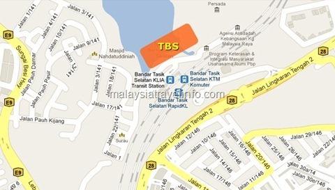 TBS-BTS map