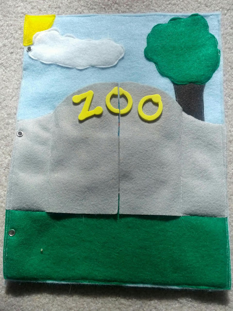 Zoo quiet book page from And Next Comes L
