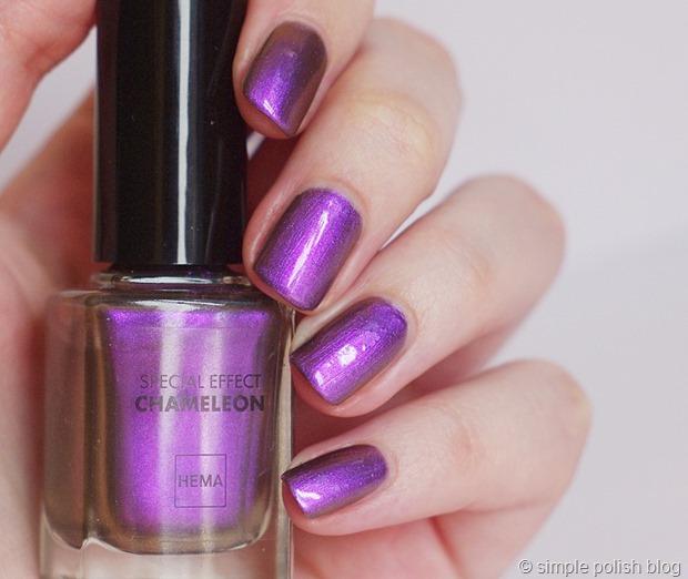 review hema chameleon purple simple polish blog. Black Bedroom Furniture Sets. Home Design Ideas