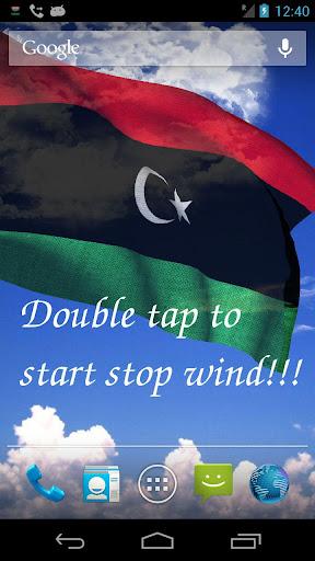 3D Libya Flag Live Wallpaper +