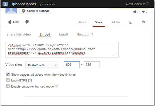 livewriter youtube video embed code custom size