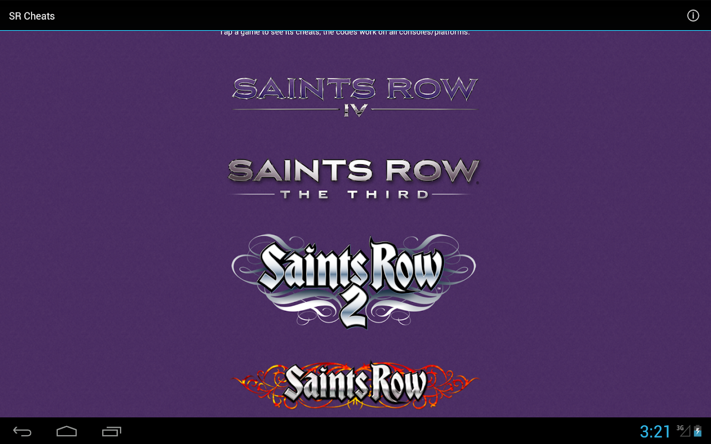 Saints Row Cheats (all games) - screenshot