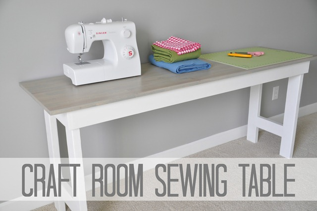 Diy Craft Room Table: Decor And The Dog: Craft Room Sewing Table Tutorial