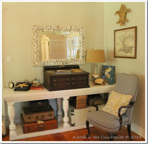 table to display vintage items