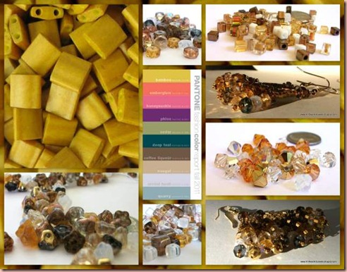 Bamboo Bead Color Collage