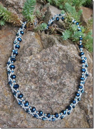 Blue necklace WS