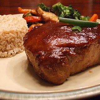 Hoisin and Honey Glazed Pork Chops.