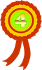 Illustration of a fourth place ribbon