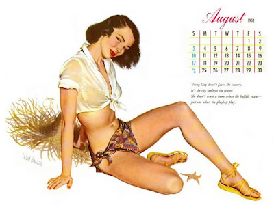 Our August pinup is by Ward Brackett and was the 1952 Esquire