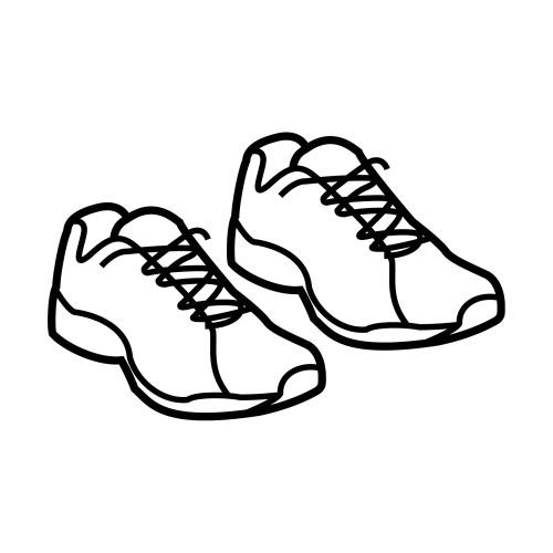 Zapatillas Deportivas Para Colorear
