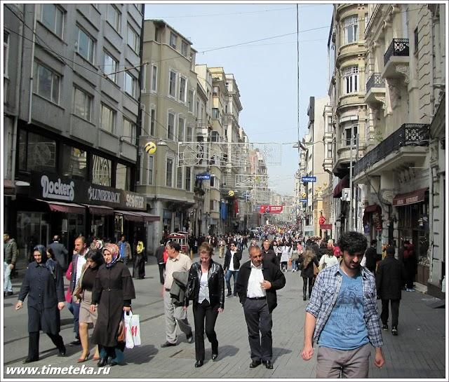 Улица Истикляль. Стамбул.