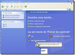 Imagem-xp sons edispositivo de audio