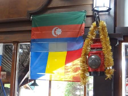 Steagul Romaniei in Tara de Foc