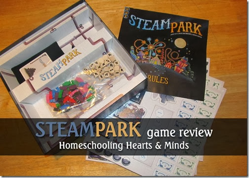 Steam Park, a beautiful game of strategy and resource management---review @Homeschooling Hearts & Minds