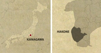 Japan Hakone Location Map