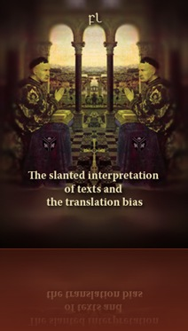 The slanted interpretation of texts and the translation bias Cover