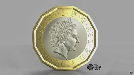 新一英镑硬币设计图