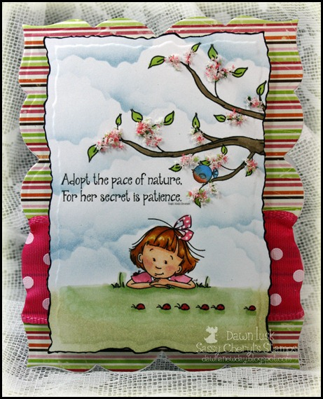 Sassy Cheryl's Stamps, Patience Secret, Noah's Tire Swing, Flower Soft, Spellbinder