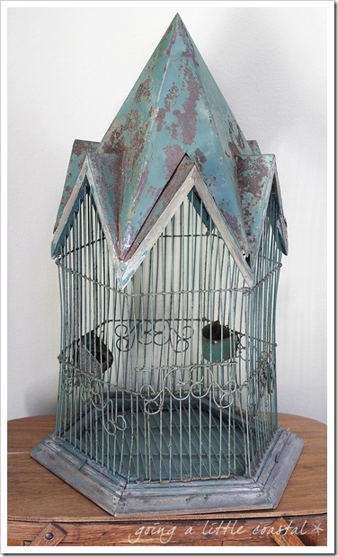 Going A Little Coastal Rusty Old Birdcage