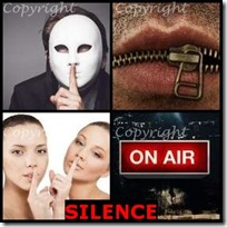 SILENCE- 4 Pics 1 Word Answers 3 Letters