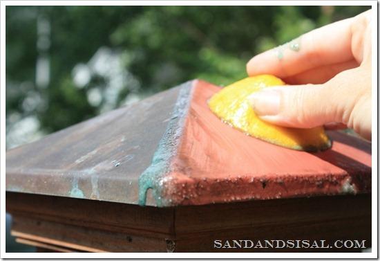 Polish copper naturally with Salt and lemon