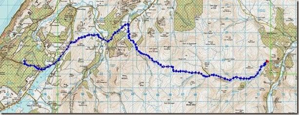 Route Ault na Goire to Glen Mazeran