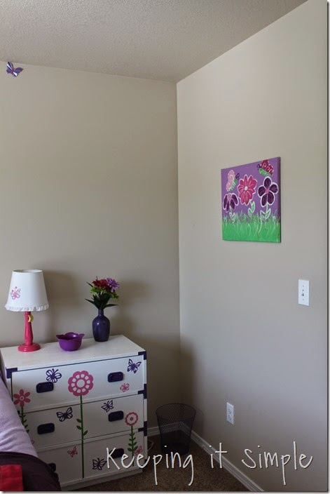butterfly and flower painted canvas #DecoArt (2)