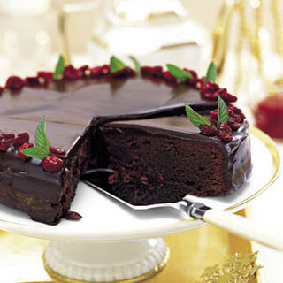 Chocolate-Cranberry Torte.