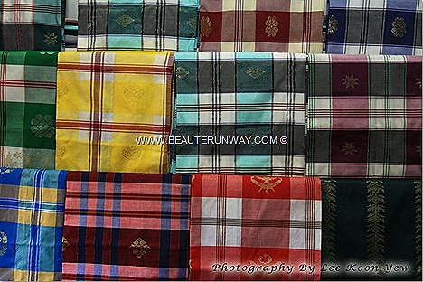 Songket Weaving Kelantan Kota Bharu hand-woven intricately patterned silk cotton Beautiful sophisticated designs weaved traditionally, thread by thread weavers stylish luxurious fabrics great celebratory occasions perfect gifts.