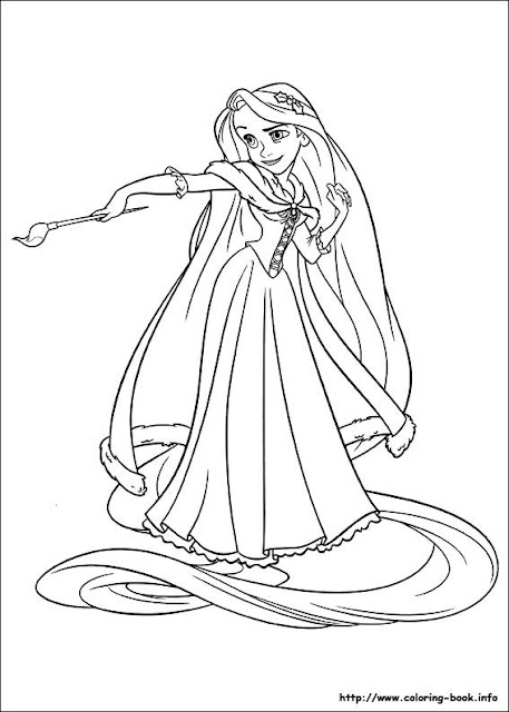 Cuento De Rapunzel Para Pintar