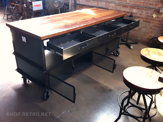 outstanding industrial kitchen island table | industrial kitchen island | Vintage Industrial Furniture
