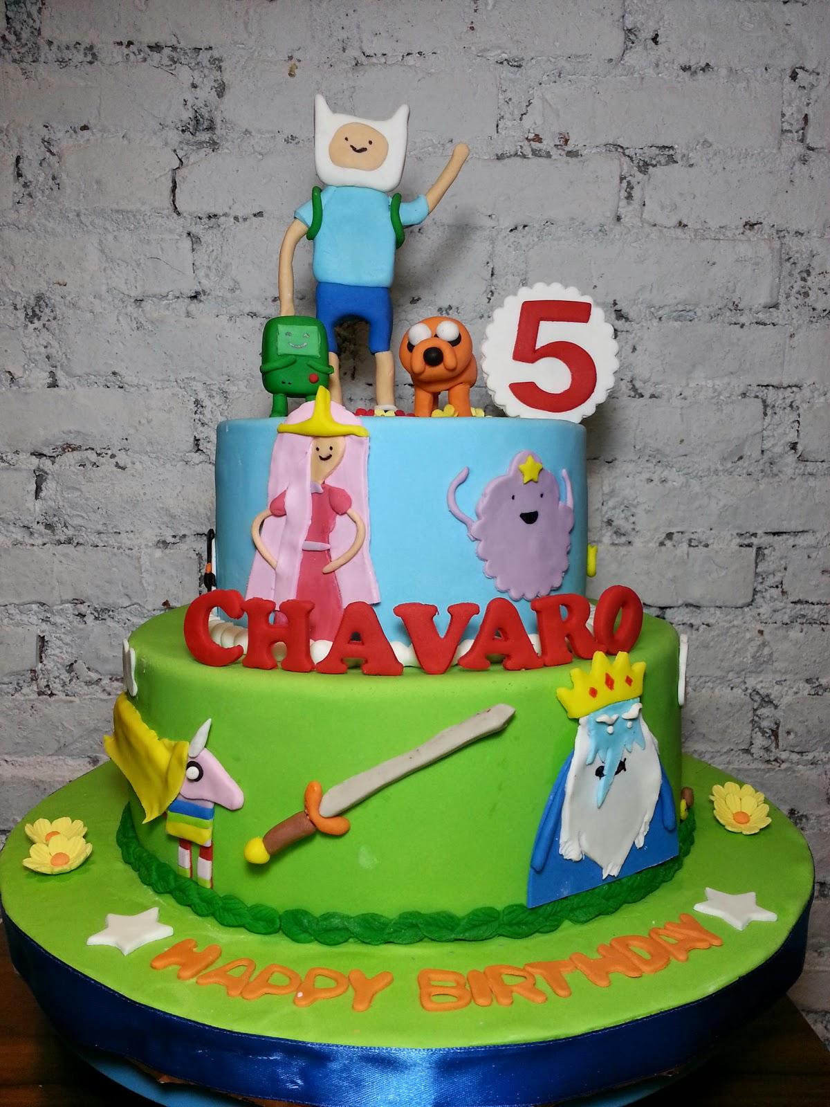 spatula and friends adventure time cake