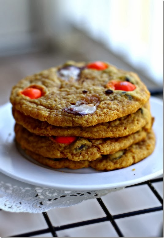 Pumpkin Candy Corn Cookies2