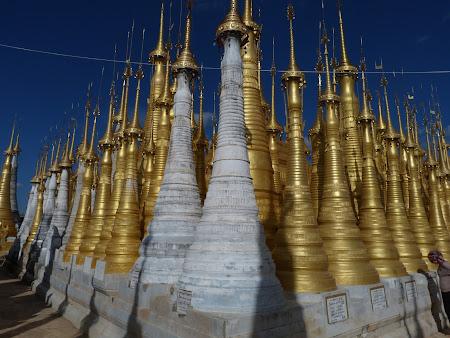 Obiective turistice Myanmar: stupe Inle Lake
