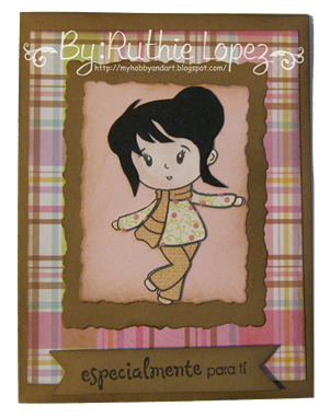 Crafty Sentiments Designs - Blitz - Latinas en America - tarjeta