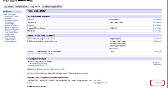 Ebay löschen wie konto eBay: Account