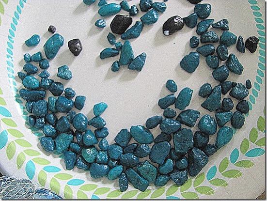 small aqua stones