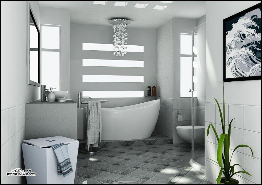 8739e76ab ديكورات حمامات مودرن عصرية 2015 ، ديكورات حمامات عصرية للمنازل