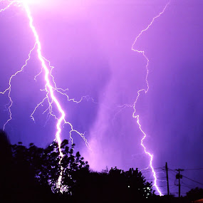 Lighting strikes in Sunnyslope AZ 1970's by Donna Probasco - Novices Only Street & Candid (  )