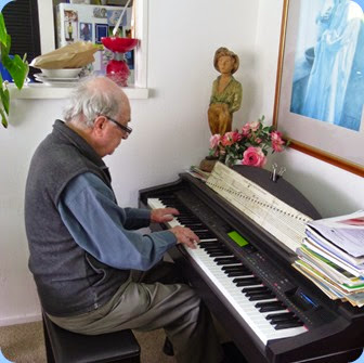 George Watt playing Delyse's Clavinova.