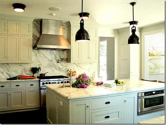 Real Kitchen Background cote de texas: white marble for the kitchen, yes or no?