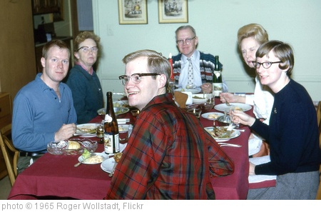 'Short Hills - Family and Aunt Marguerite at Dinner (1965)' photo (c) 1965, Roger Wollstadt - license: http://creativecommons.org/licenses/by-sa/2.0/