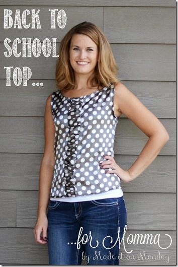 Back to School Top for Momma @ made it on monday