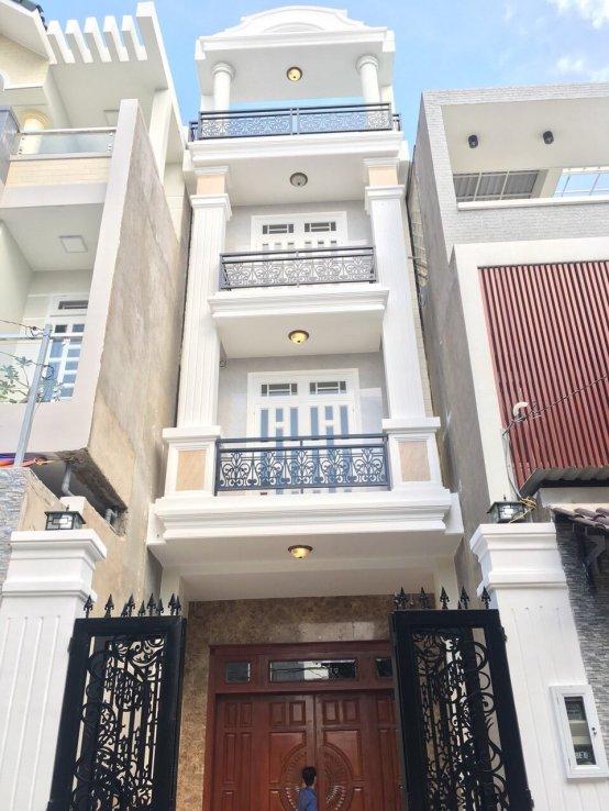 Bán nhà 1 trệt 3 lầu hẻm ô tô Phạm Văn Đồng Quận Thủ Đức, diện tích 4m x 13,6m  - 2