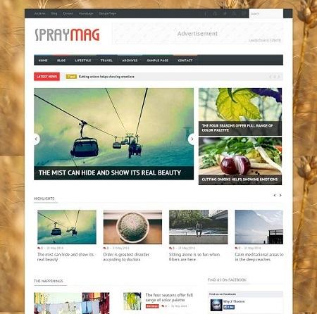 Template Blogspot - Spraymag - Responsive