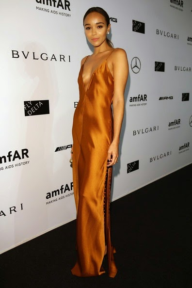 Ashley Madekwe attends the amfAR Milano 2014