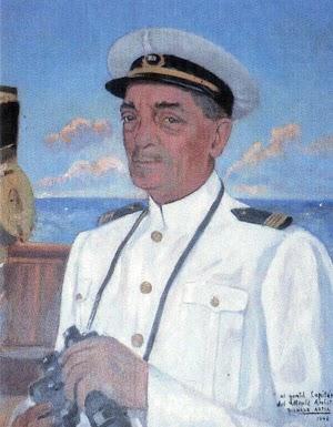 D. Felix Gastearena Larrea. Nacido en 1888 y muerto al caer a la bodega del MONTE AMBOTO. Del libro CAPITANES Y PILOTOS DE LA MARINA MERCANTE RELACIONADOS CON PLENTZIA